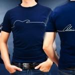alain-caron-t-shirts bleu
