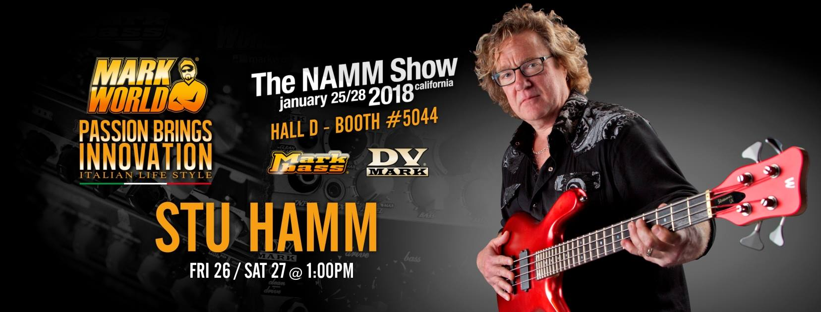 Stu Hamm Mark Bass show Namm 2018
