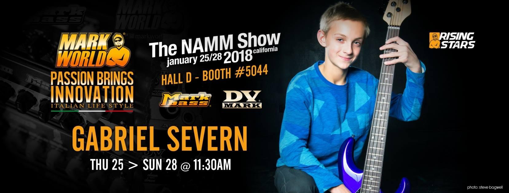 Gabriel Severn show Namm 2018