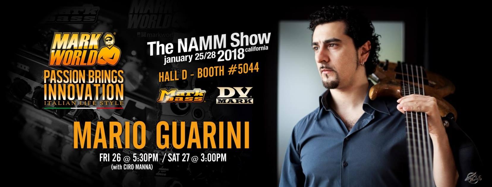 Mario Guarini show Namm 2018