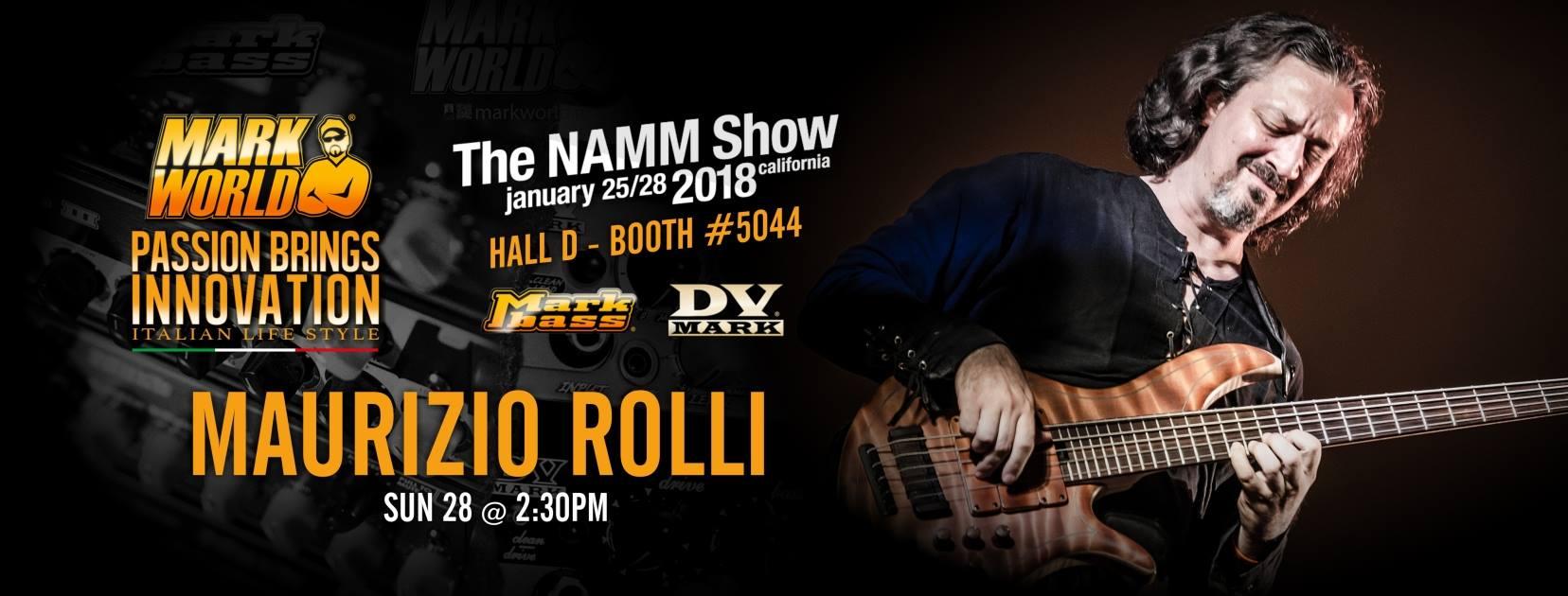 maurizio Rolli show Namm 2018